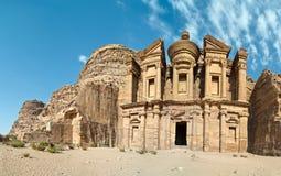 Het graf van het klooster - Petra, Jordanië Royalty-vrije Stock Afbeeldingen