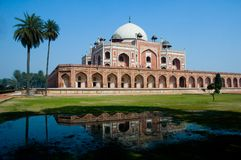 Het Graf van Humayun, New Delhi, India Royalty-vrije Stock Foto