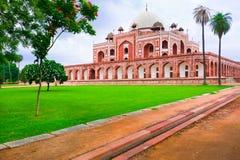 Het Graf van Humayun `s. India, Delhi stock fotografie