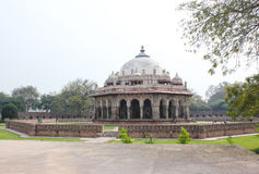 Het Graf van Isa Khan Niyazi, Humayun Tomb complex New Delhi Stock Afbeelding