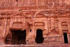 Het graf van Nabatean in Petra, Jordanië royalty-vrije stock afbeelding