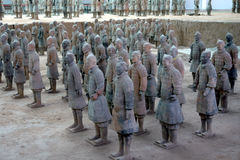 Het Graf van Si Huang van Qin Stock Afbeeldingen