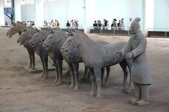 Het Graf van Si Huang van Qin Stock Fotografie