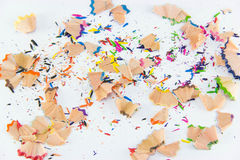 Het grafiet van het kleurenpotlood Kleurrijke achtergrond voor uw ontwerp Royalty-vrije Stock Foto