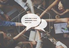 Het Grafische Concept van boodschappersdiscussion community technology stock foto