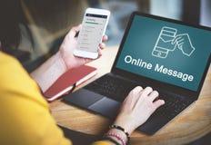 Het Grafische Concept van de elektronische Posttechnologie E-mail Stock Fotografie