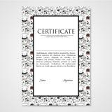 Het grafische document van het ontwerpmalplaatje met abstracte monsters Royalty-vrije Stock Afbeelding