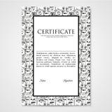 Het grafische document van het ontwerpmalplaatje met abstracte monsters Royalty-vrije Stock Afbeeldingen