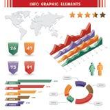 Het grafische element van info Stock Fotografie