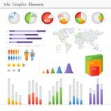 Het grafische element van info Stock Afbeeldingen