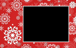 Het Grafische Frame van de sneeuwvlok Royalty-vrije Stock Foto