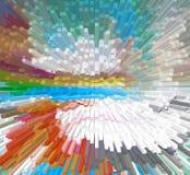 Het grafische ontwerp is abstract Grafische arts. Abstractie Textuur Royalty-vrije Illustratie