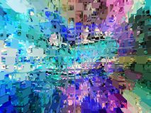 Het grafische ontwerp is abstract Grafische arts. Abstractie Textuur Vector Illustratie