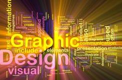 Het grafische ontwerp achtergrondconcept gloeien Royalty-vrije Stock Fotografie
