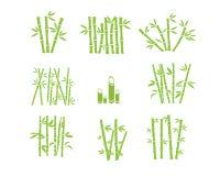 Het Grafische Ontwerp van het bamboesilhouet Stock Foto