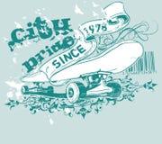 Het grafische Ontwerp van het Skateboard Stock Afbeelding