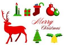 Het grafische ontwerp van Kerstmiselemnet Stock Foto's