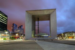 Het Grande Arche, Parijs - de Defensie van La, Frankrijk Royalty-vrije Stock Fotografie
