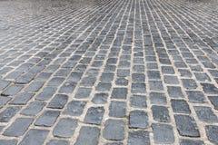 Het Graniet cobblestoned bestratingsachtergrond stock foto