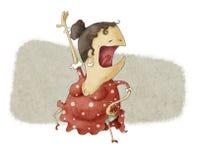 Het grappige flamenco dansen Stock Foto's