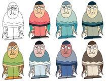 Het grappige gekleurde beeldverhaal schrijft gemaakte hand - trek de vreemdelingenoctopus van het krabbelmonster stock illustratie