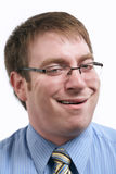 Het grappige gezicht van de zakenman Stock Fotografie