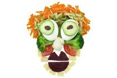 Het grappige Gezicht van het Voedsel Royalty-vrije Stock Afbeeldingen
