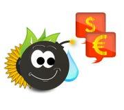 Het grappige karakter maakt geld Stock Afbeelding