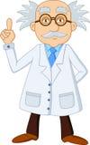 Het grappige karakter van het wetenschapperbeeldverhaal Stock Foto