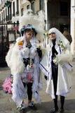 Het grappige kostuum van Venetië Stock Afbeeldingen