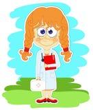 Het grappige meisje is een arts vector illustratie