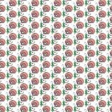Het grappige naadloze patroon van de beeldverhaal plantaardige paddestoel Royalty-vrije Stock Afbeelding