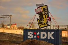 Het grappige Nederlandse teken die, wil hier leven zeggen? Royalty-vrije Stock Afbeelding