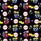 Het grappige patroon van het slakkenmozaïek Stock Afbeelding