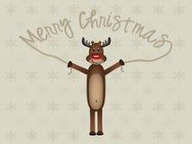 Het grappige Rendier van Kerstmis Stock Afbeelding