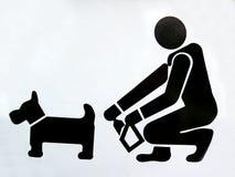 Het grappige Teken van de Hond Royalty-vrije Stock Foto