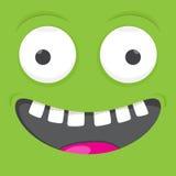 Het grappige vierkant van het gezichts vectoremoticon van het glimlachbeeldverhaal royalty-vrije illustratie