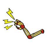 het grappige wapen van de beeldverhaalrobot Stock Fotografie
