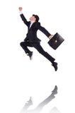 Het grappige zakenman springen Royalty-vrije Stock Fotografie