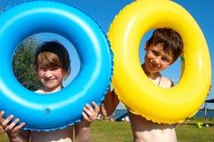 Het grappige zwemmen Royalty-vrije Stock Foto