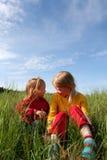 In het gras Royalty-vrije Stock Afbeeldingen