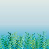 Het gras dichtbij het water Naadloos patroon Royalty-vrije Stock Afbeelding