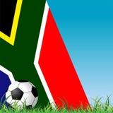 Het gras en de vlag van de bal Stock Afbeeldingen