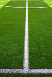 het gras van het voetbalgebied Royalty-vrije Stock Afbeelding
