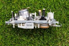 Het gras van mechanisme videobanden stock afbeeldingen