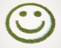 Het gras van Smiley Royalty-vrije Stock Fotografie