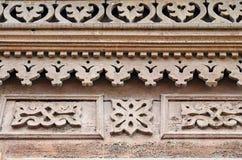 Het gravure decoratieve element van het blokhuis De straten van Irkoetsk, Rusland Royalty-vrije Stock Afbeelding