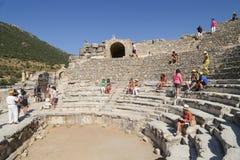 Het Grieks en Romein amphitheatre in Ephesus, Turkije Royalty-vrije Stock Foto