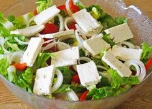 Het Grieks salade-i Stock Afbeeldingen