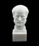 Het Griekse beeldhouwwerk van filosoofAristotle Stock Afbeelding